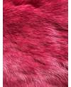 Kaninfell berry gefärbt