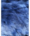 Kaninchenfell ultramarineblau gefärbt