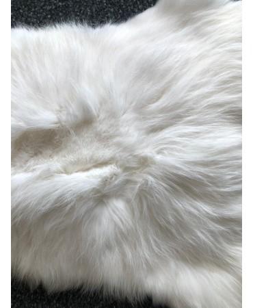 Kaninfell weiss angora naturell
