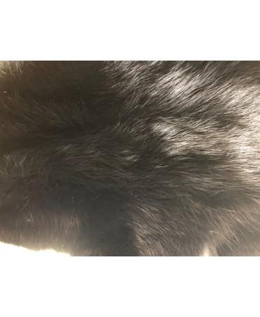 Rotfuchsfell schwarz gefärbt