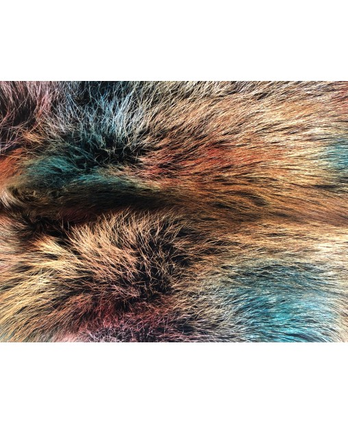 Rotfuchsfell dreifarbig gefärbt