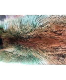 Rotfuchsfell türkis gefärbt