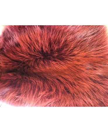Rotfuchsfell ferrarirot gefärbt