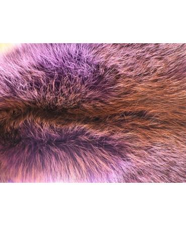 Rotfuchsfell violett gefärbt