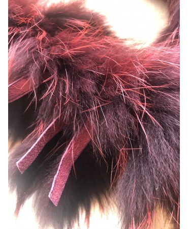 Schweizer Rotfuchsboa bordeau-rot gefärbt
